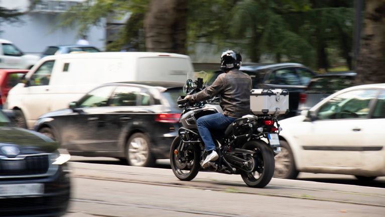 Andare al lavoro in moto