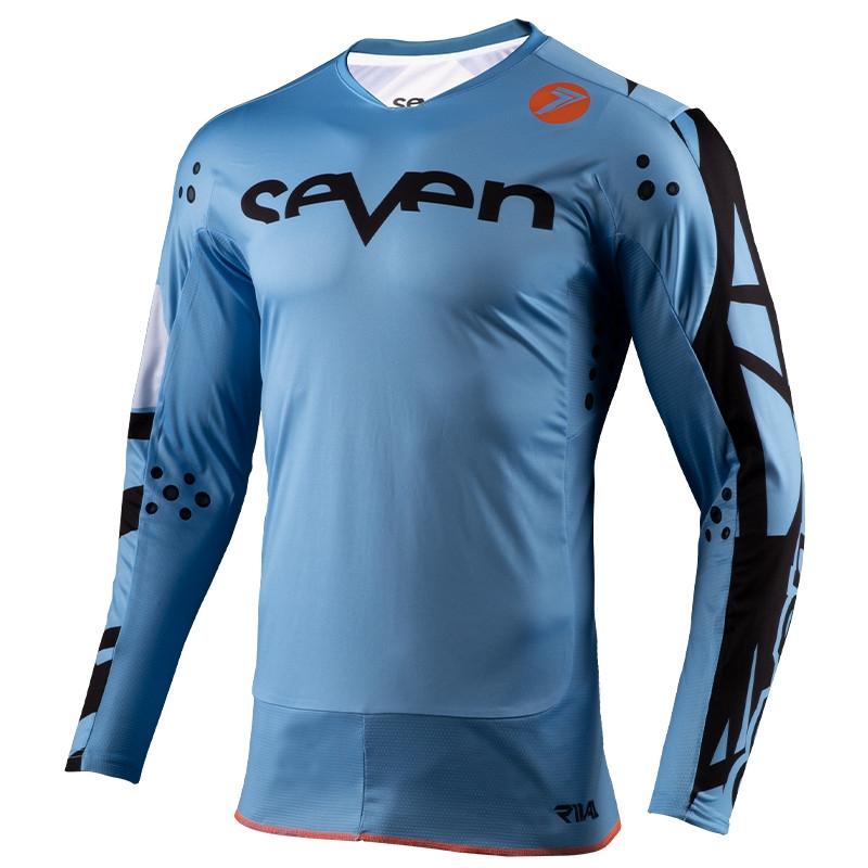 Completo cross Seven Rival Trooper 2 Blue 2020 pantaloni+maglia 3