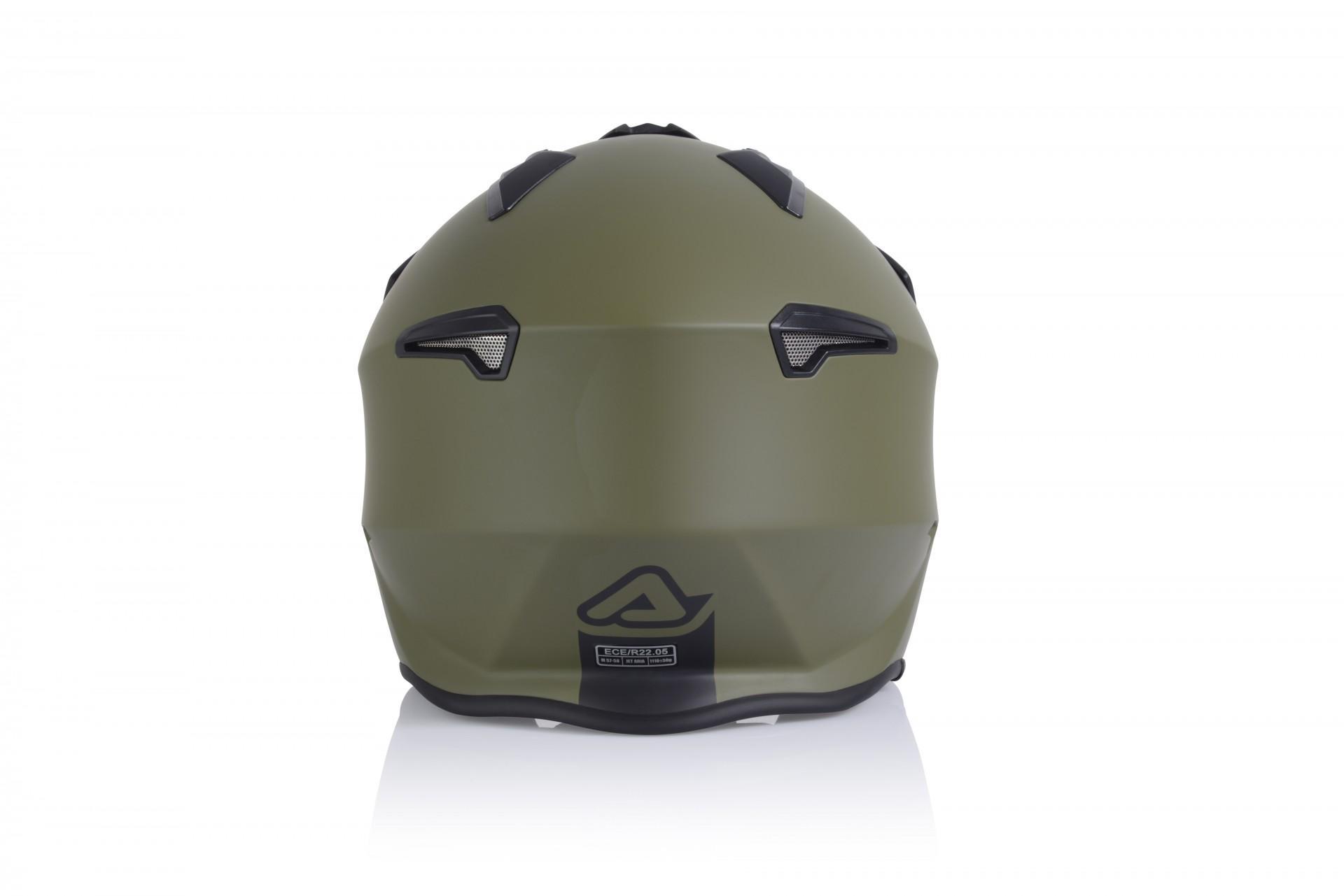 Casco Jet Acerbis JET ARIA mimetico verde militare 2