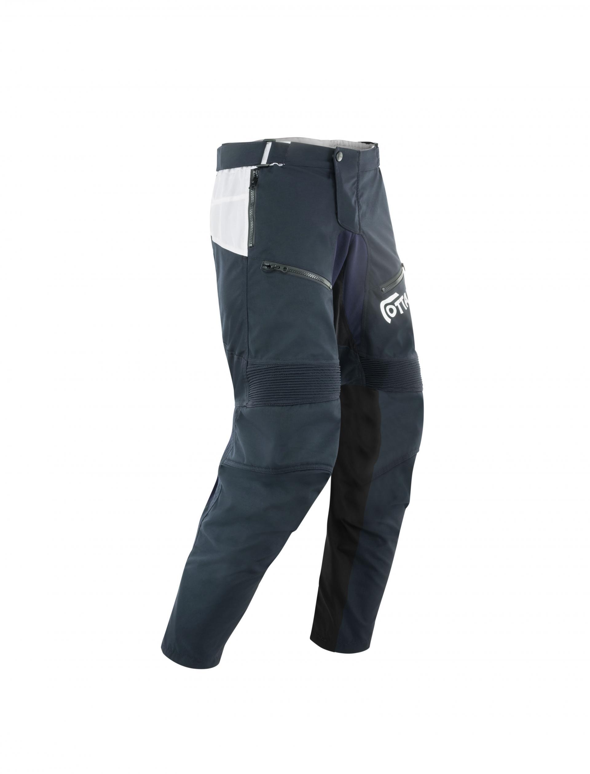 Pantaloni moto ADVENTURING Ottano 2.0 Blu 1