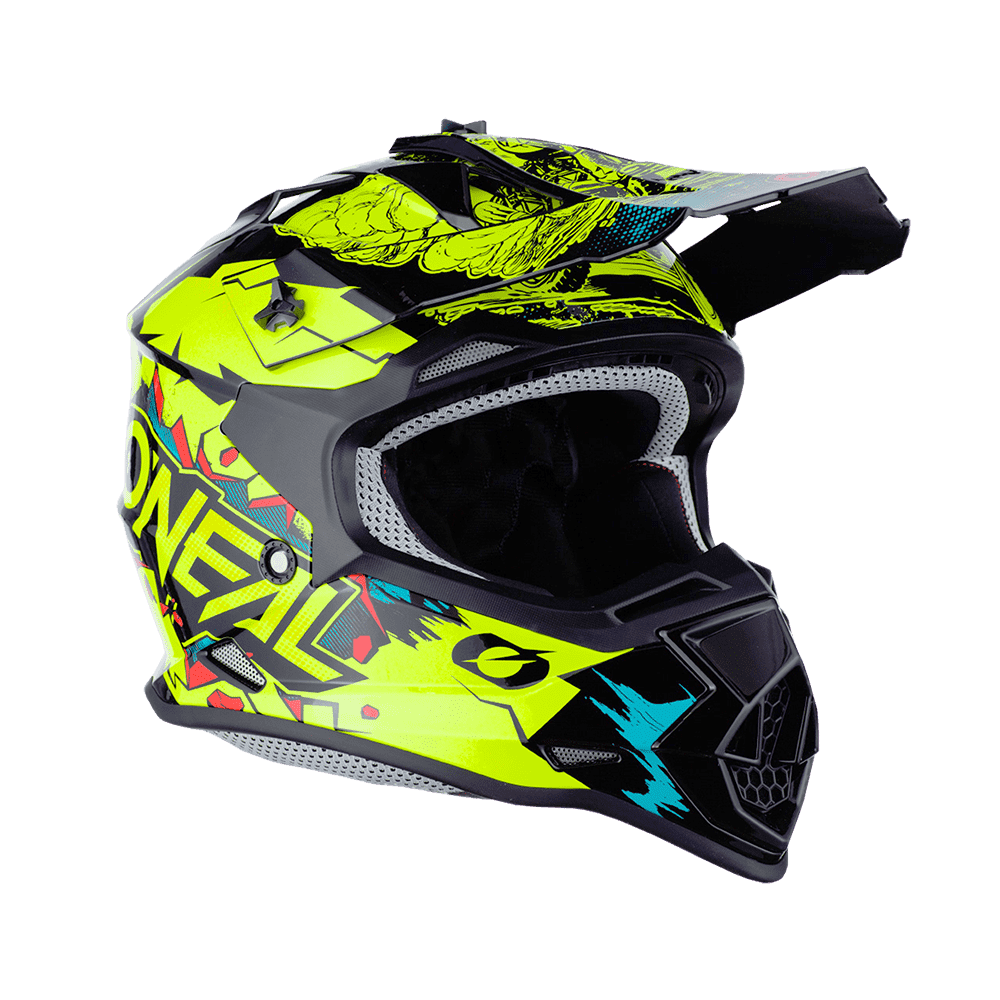 Casco cross bambino Serie 2 O'Neal VILLAIN neon yellow 1