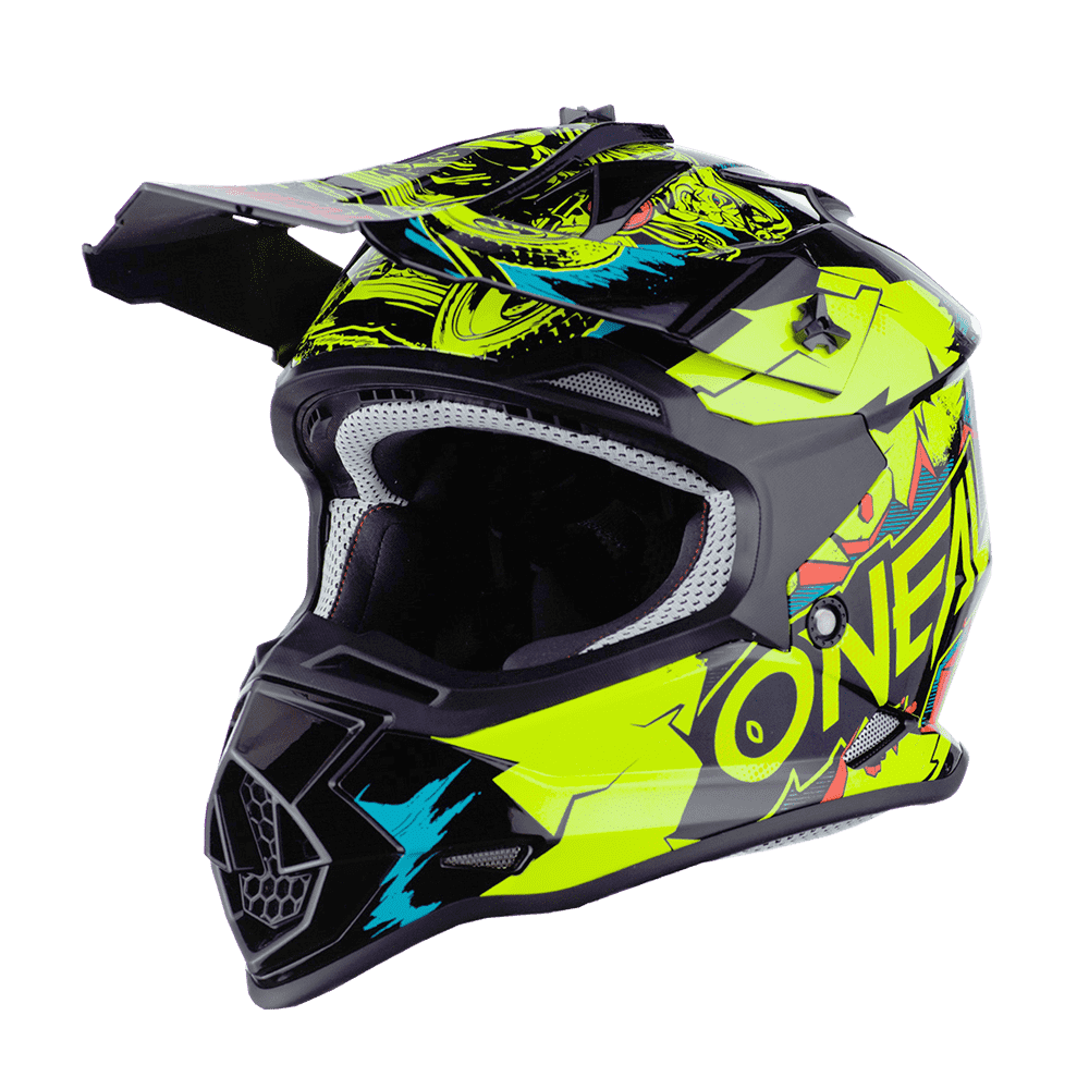 Casco cross bambino Serie 2 O'Neal VILLAIN neon yellow 2