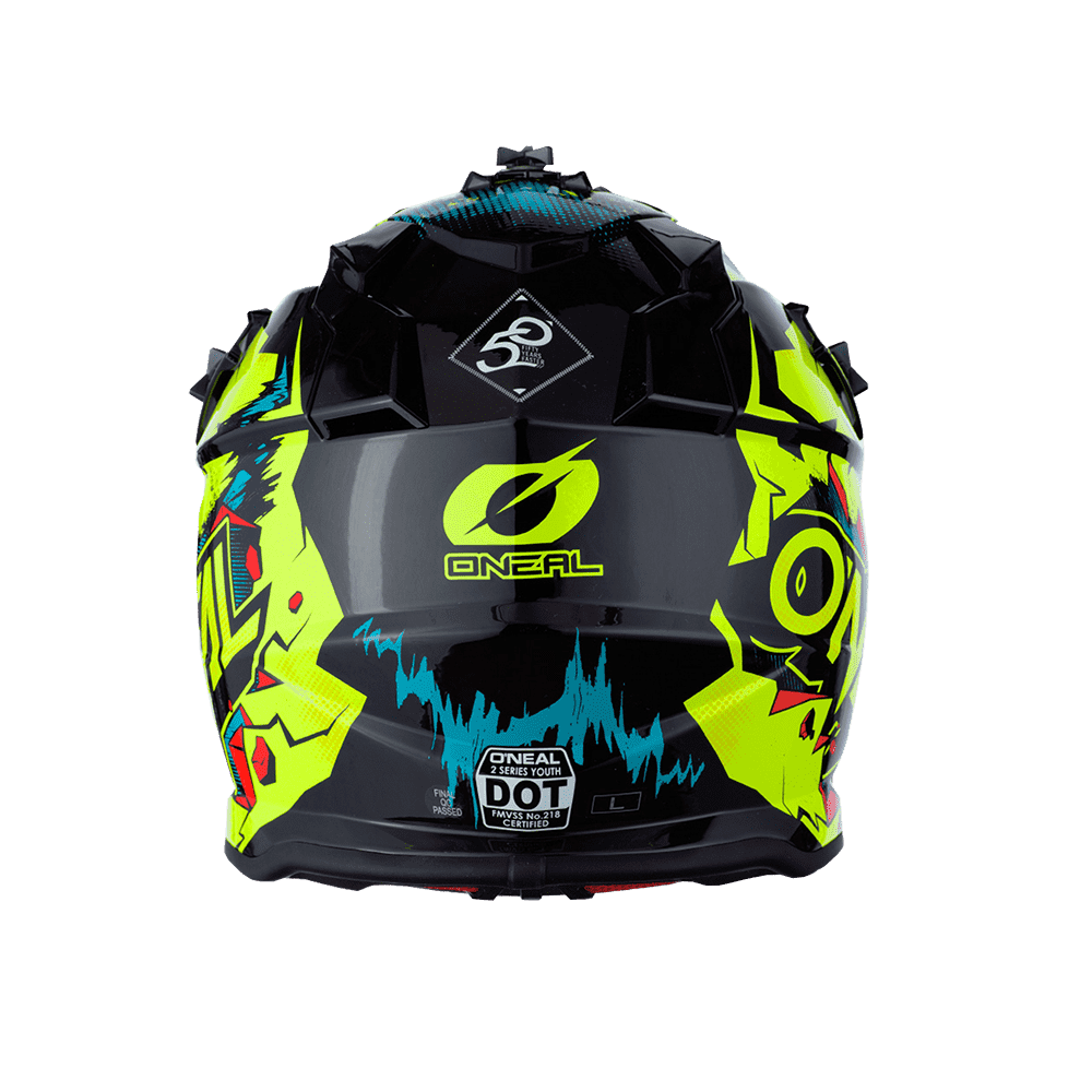 Casco cross bambino Serie 2 O'Neal VILLAIN neon yellow 3