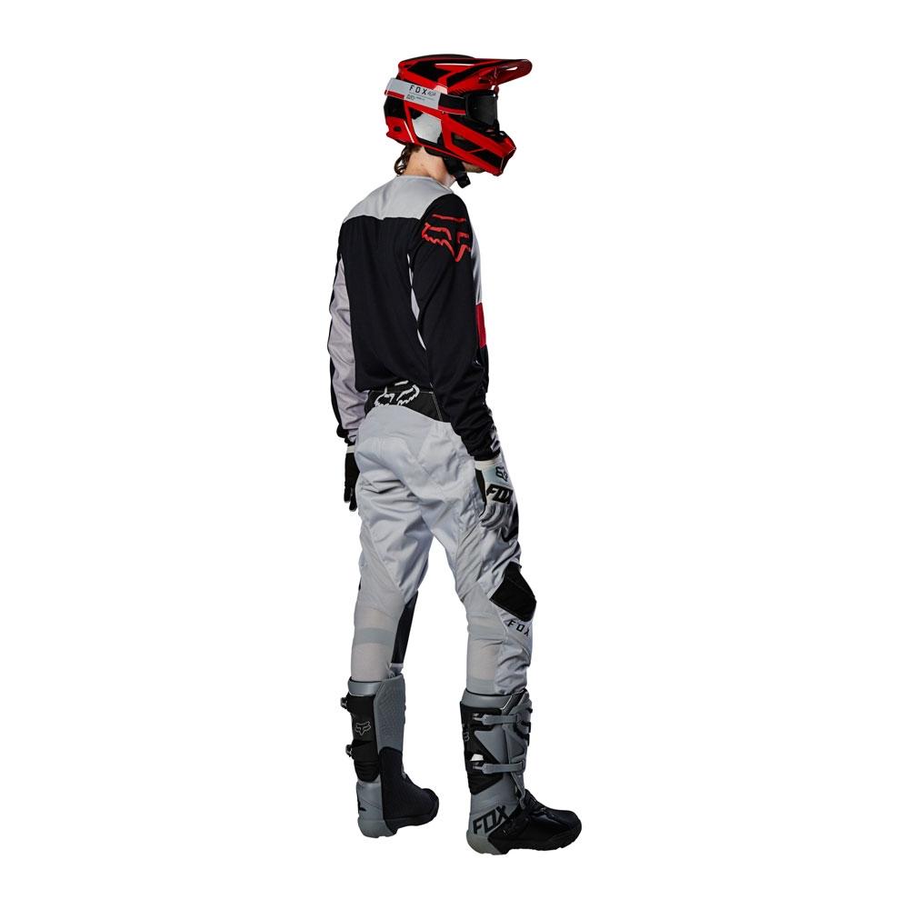 Completo cross enduro Fox 180 FYCE Grey Red 2020 pantaloni+maglia 2