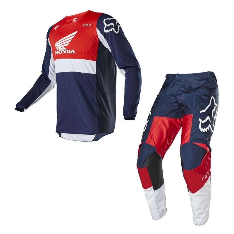 Completo cross enduro Fox 180 HONDA 2020 pantaloni+maglia 1