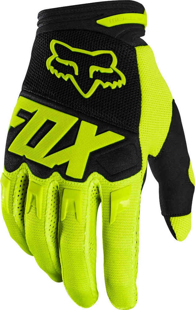 Guanti cross enduro Fox DIRTPAW RACE 2020 Yellow Fluo 1