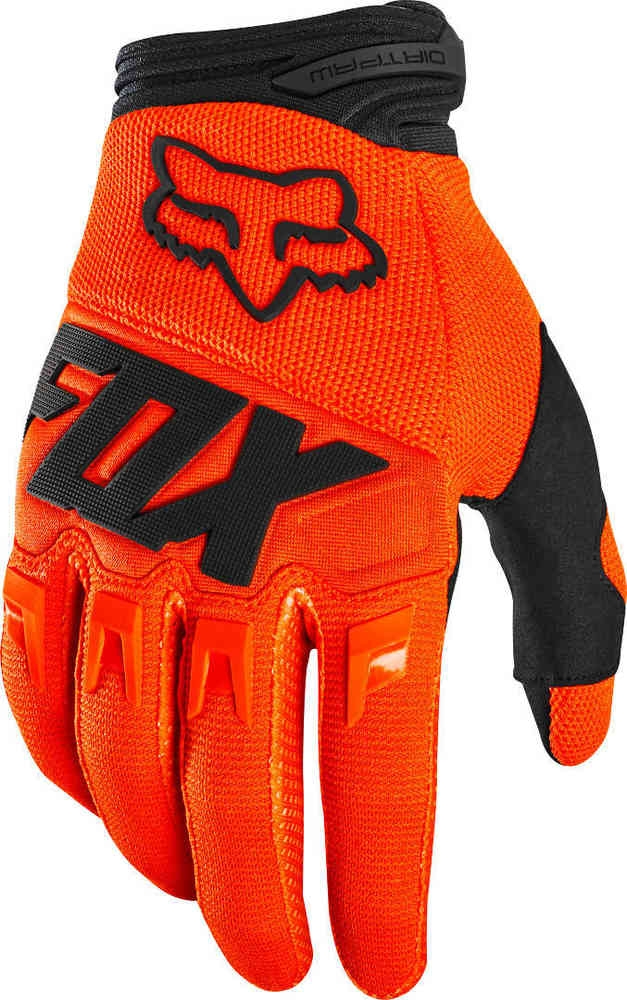 Guanti cross bambino Fox DIRTPAW RACE 2020 Orange Fluo 1