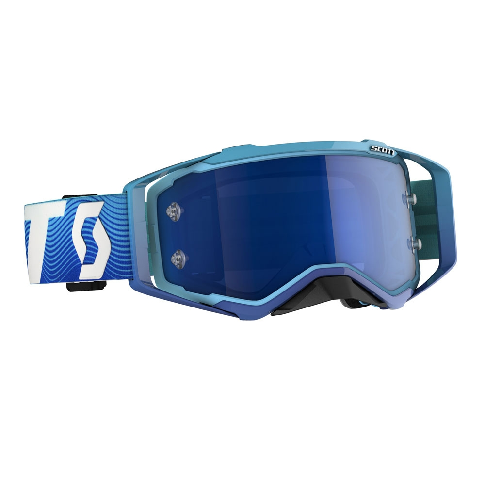 Occhiali (maschera) cross 2020 Scott PROSPECT blue white lente electric blue chrome 1