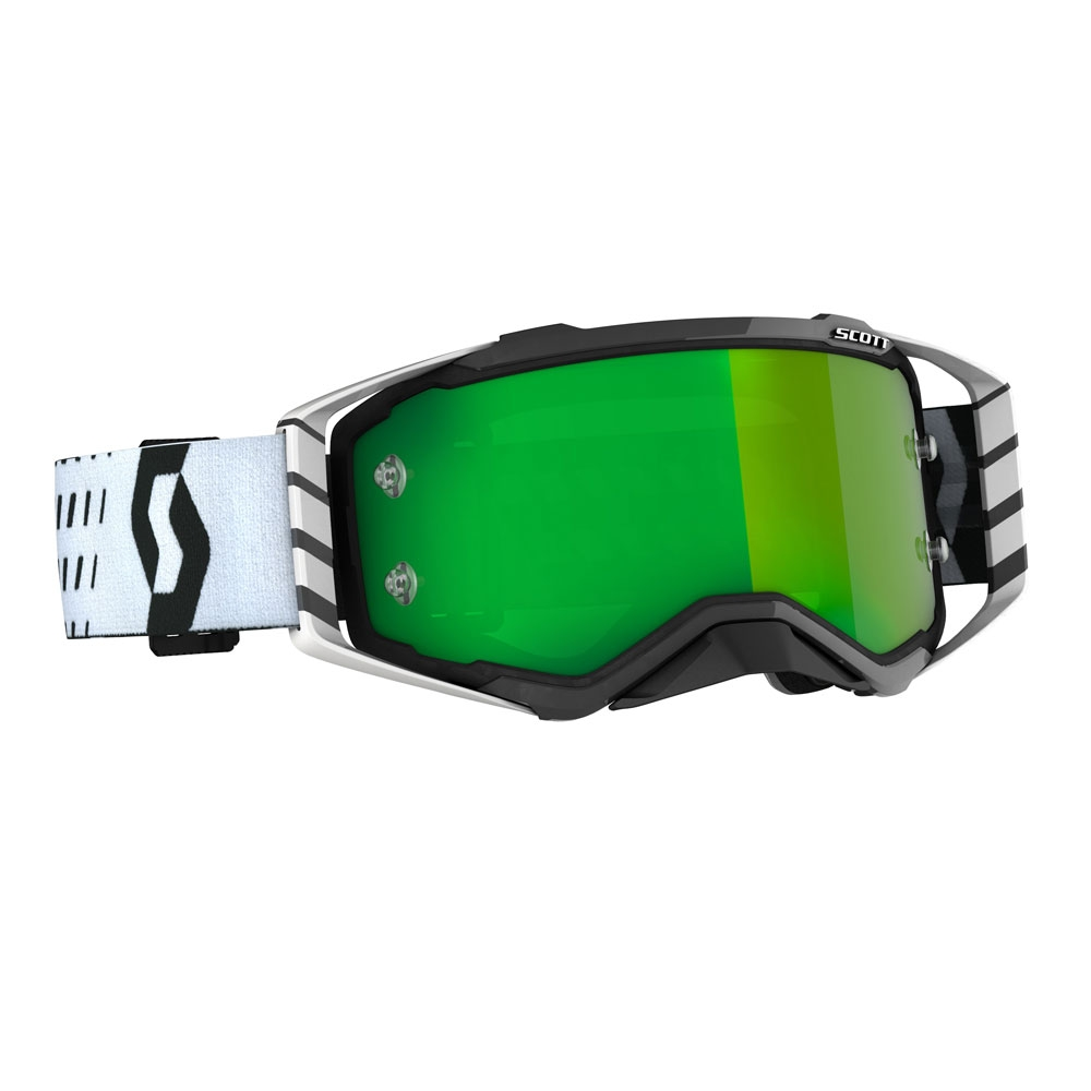 Occhiali (maschera) cross 2020 Scott PROSPECT black white lente green chrome 1