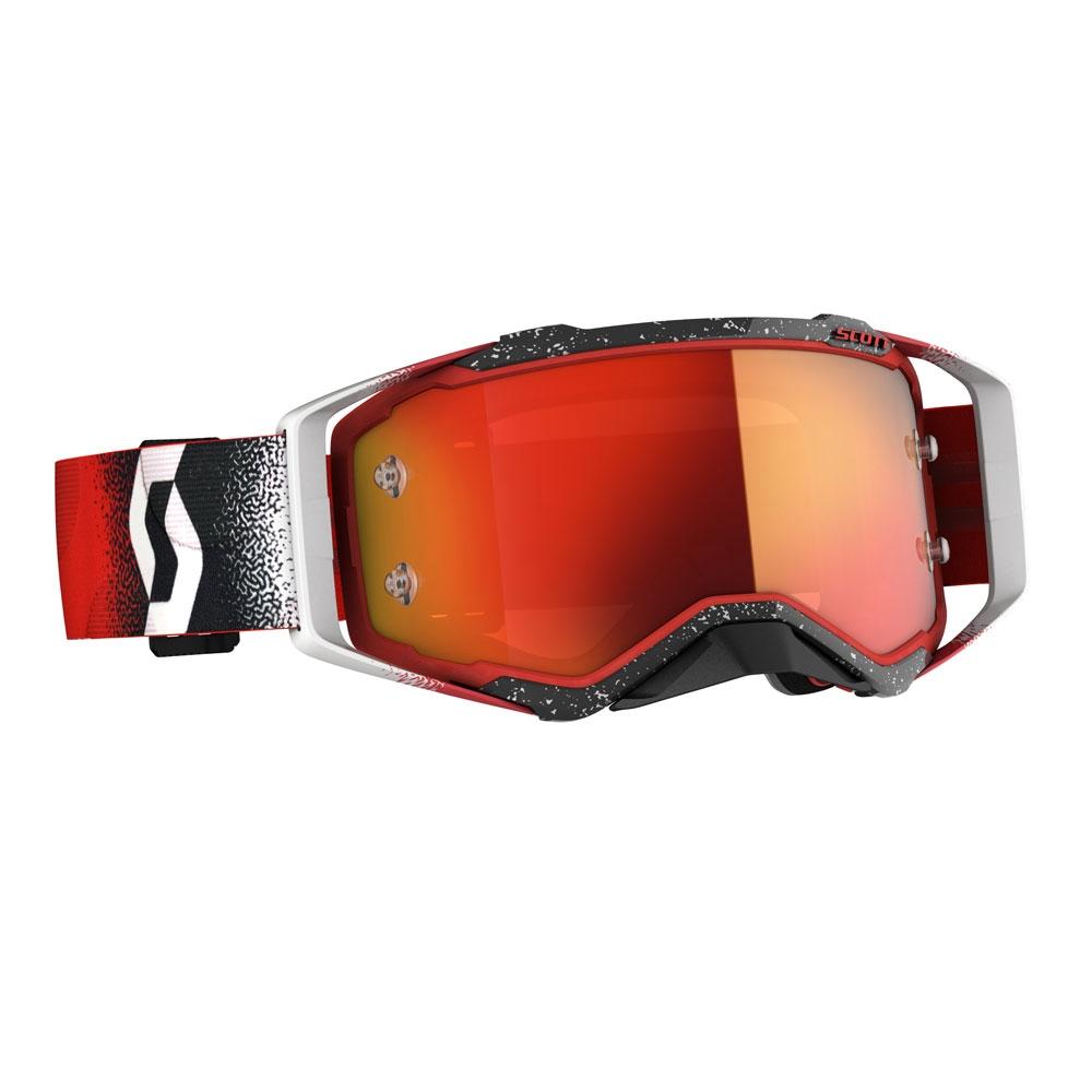 Occhiali (maschera) cross 2020 Scott PROSPECT white red lente orange chrome 1