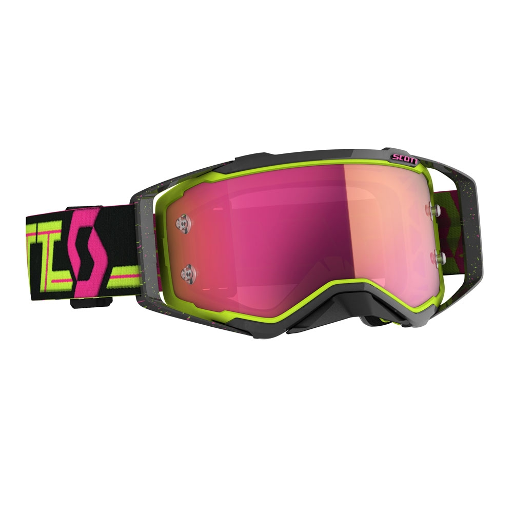 Occhiali (maschera) cross 2020 Scott PROSPECT black yellow lente pink chrome 1