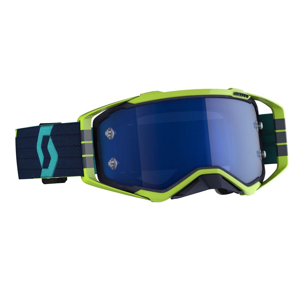 Occhiali (maschera) cross 2020 Scott PROSPECT blue yellow lente electric blue chrome 1