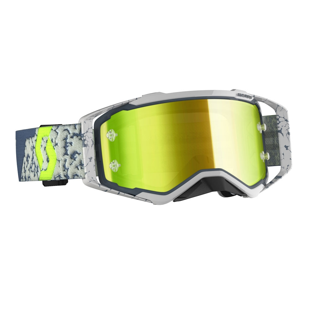 Occhiali (maschera) cross 2020 Scott PROSPECT grey dark grey lente yellow chrome 1