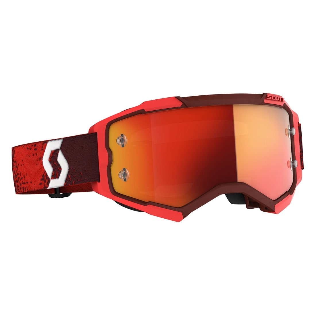 Occhiali (maschera) cross 2020 Scott FURY red lente orange chrome 1