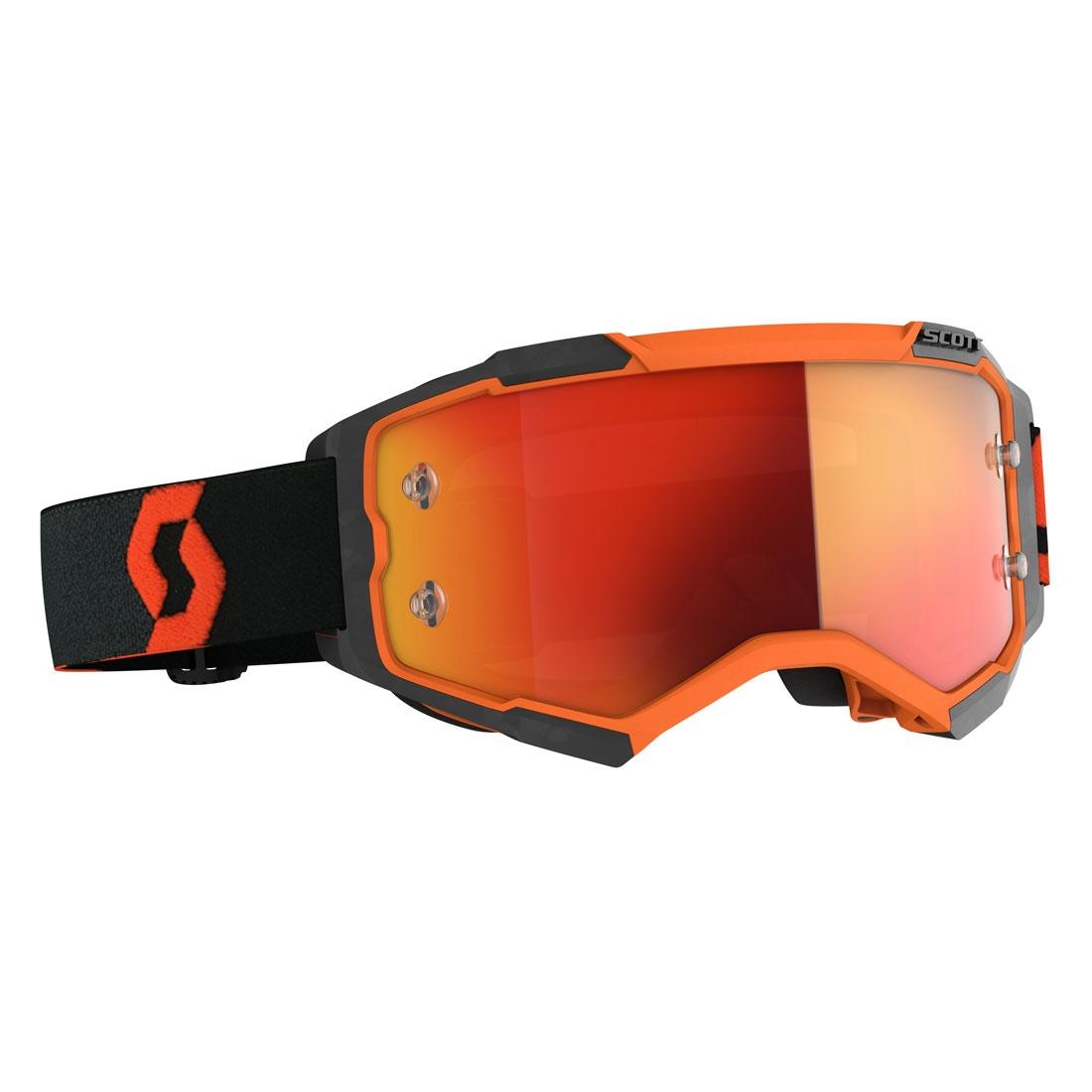 Occhiali (maschera) cross 2020 Scott FURY orange black lente orange chrome 1