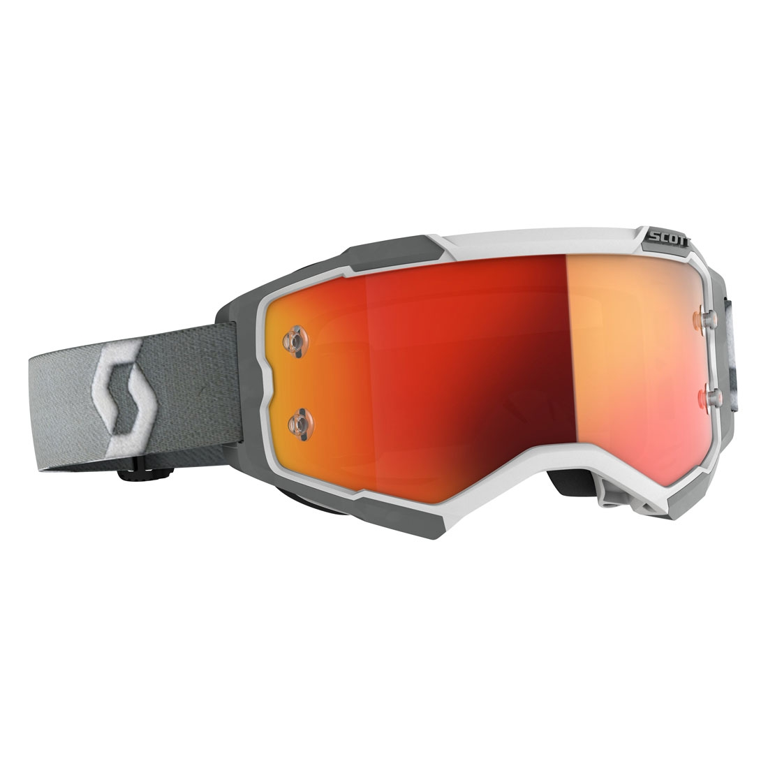 Occhiali (maschera) cross 2020 Scott FURY white grey lente orange chrome 1