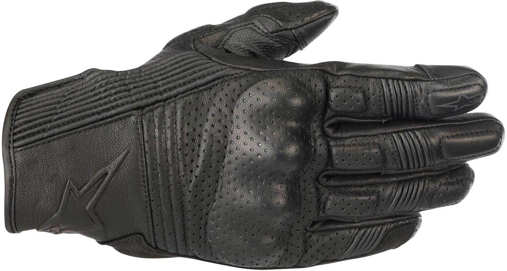 Guanti moto in pelle con protezioni Alpinestars MUSTANG V2 nero 1
