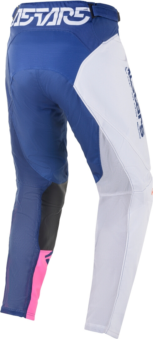 Completo cross Alpinestars RACER COMPASS off white navy pink fluo 2021 pantaloni+maglia 2
