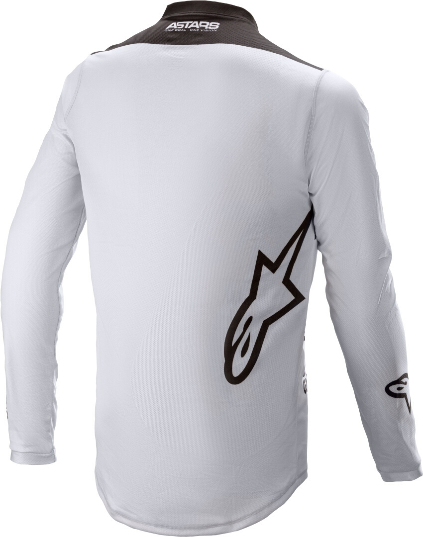 Completo cross Alpinestars RACER SUPERMATIC light gray black 2021 pantaloni+maglia 3