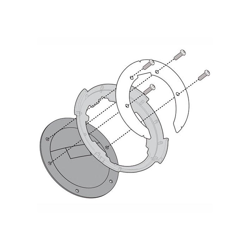 BF09 Flangia per borse Tanklock DUCATI MONSTER 1100 EVO 11-12 696-796-1100 08-14 1