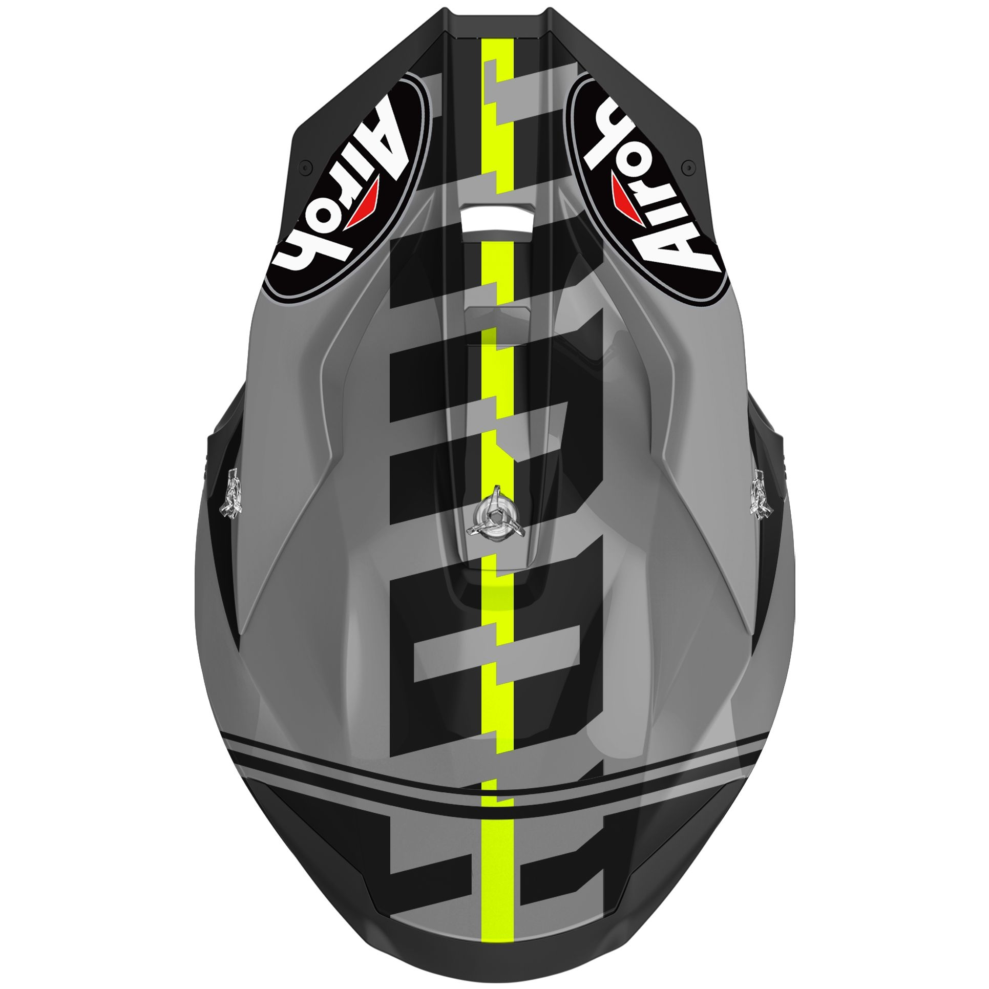 Casco Airoh cross enduro TWIST 2.0 TECH YELLOW matt 3