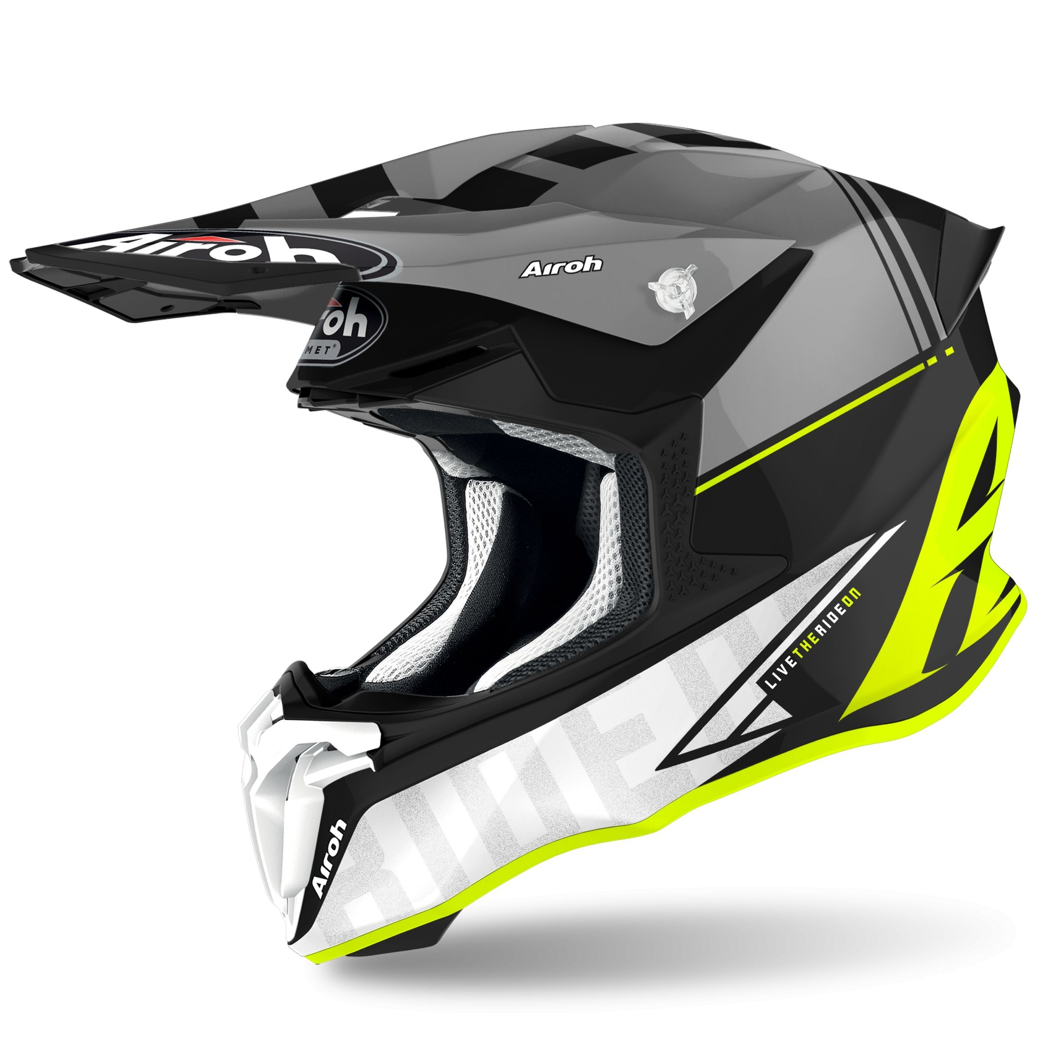 Casco Airoh cross enduro TWIST 2.0 TECH YELLOW matt 1