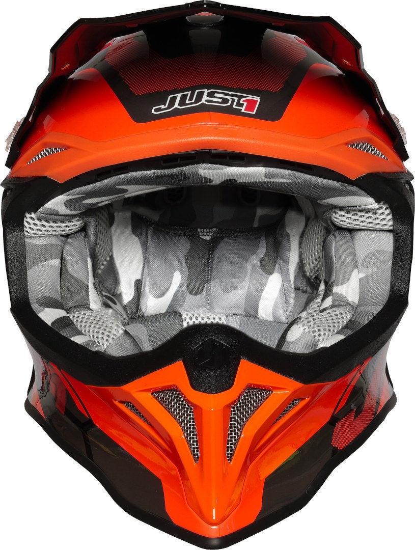 Casco Just1 cross enduro J39 REACTOR Fluo Orange Black Gloss 3