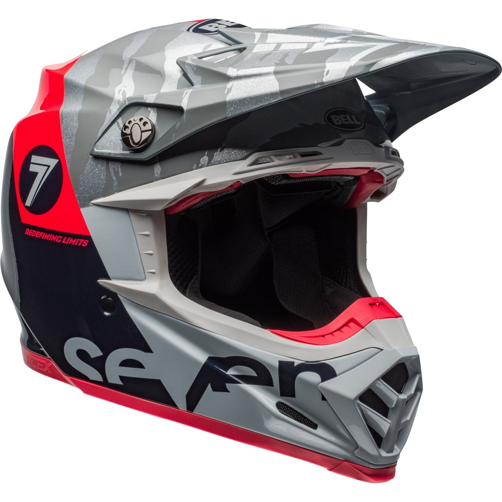 Casco cross Bell Moto 9 Flex Carbon Seven Zone Navy Corall 2