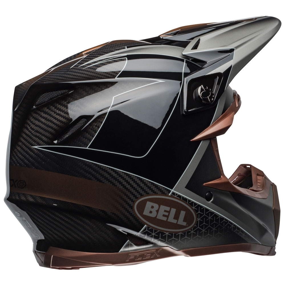 Casco cross Bell Moto 9 Flex Carbon Hound Black Bronze 2