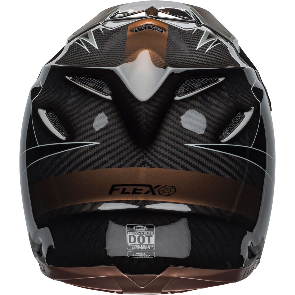 Casco cross Bell Moto 9 Flex Carbon Hound Black Bronze 3