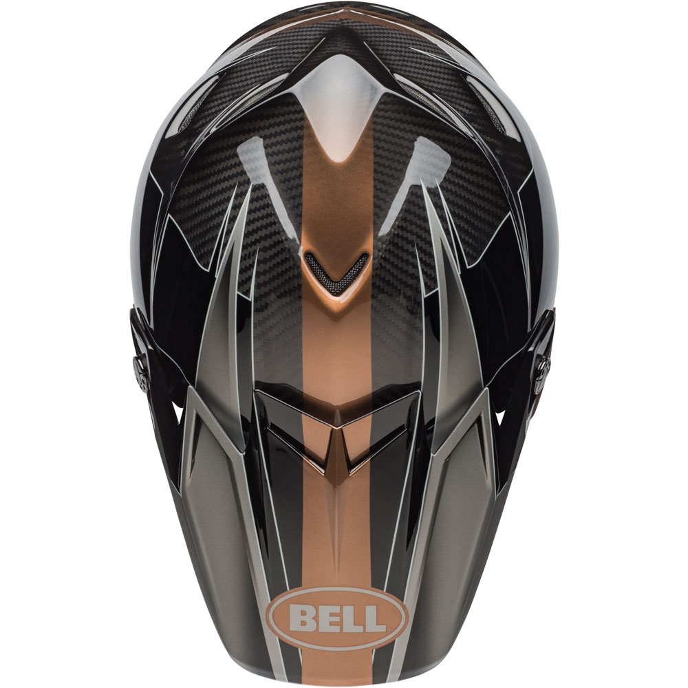 Casco cross Bell Moto 9 Flex Carbon Hound Black Bronze 4