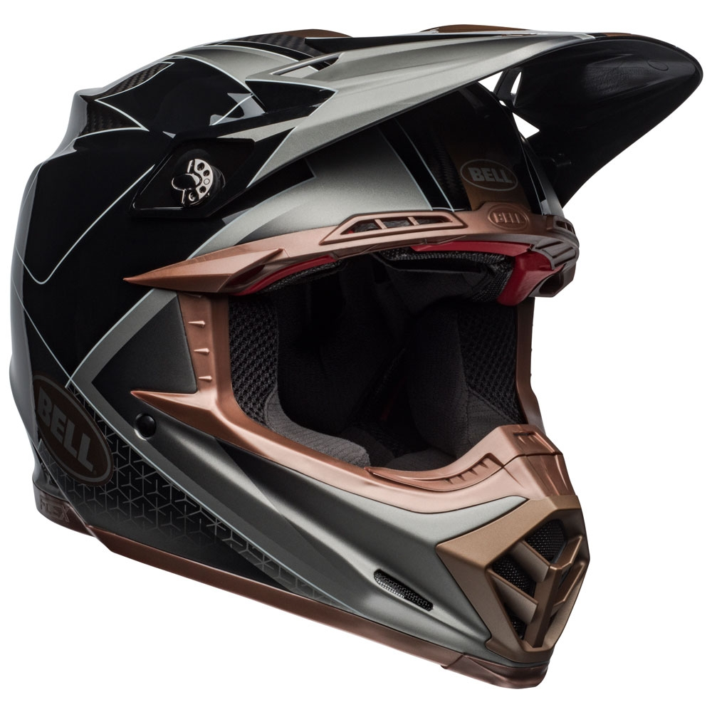 Casco cross Bell Moto 9 Flex Carbon Hound Black Bronze 1