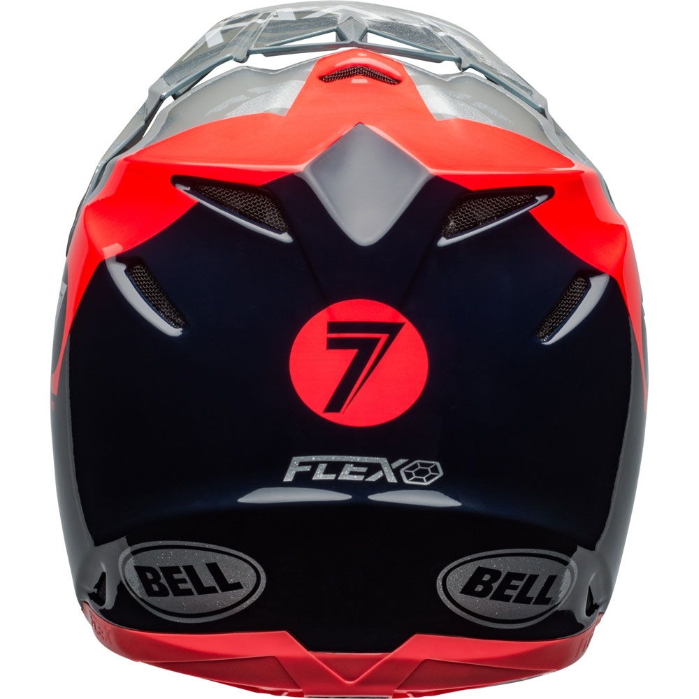 Casco cross Bell Moto 9 Flex Carbon Seven Zone Navy Corall 3
