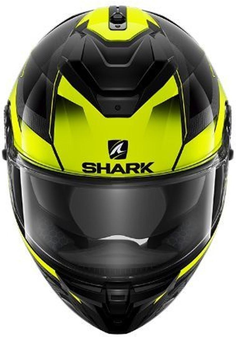 Casco integrale Shark SPARTAN GT CARBON Shestter Giallo fluo lucido 3