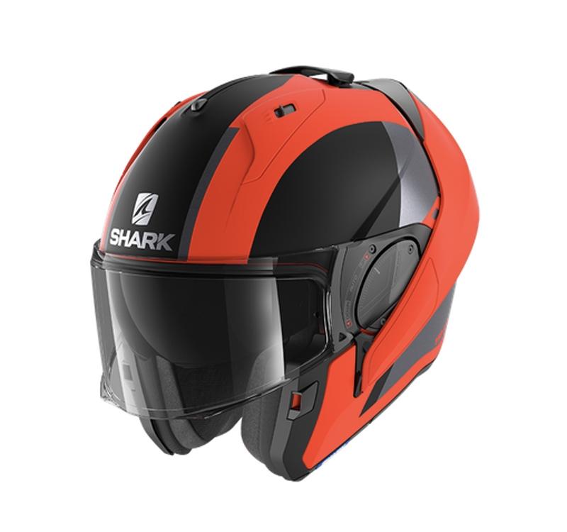 Casco modulare Shark EVO ES ENDLESS Orange Black Mat 2