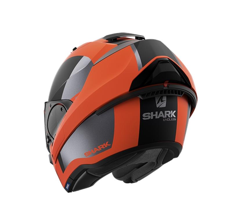 Casco modulare Shark EVO ES ENDLESS Orange Black Mat 3