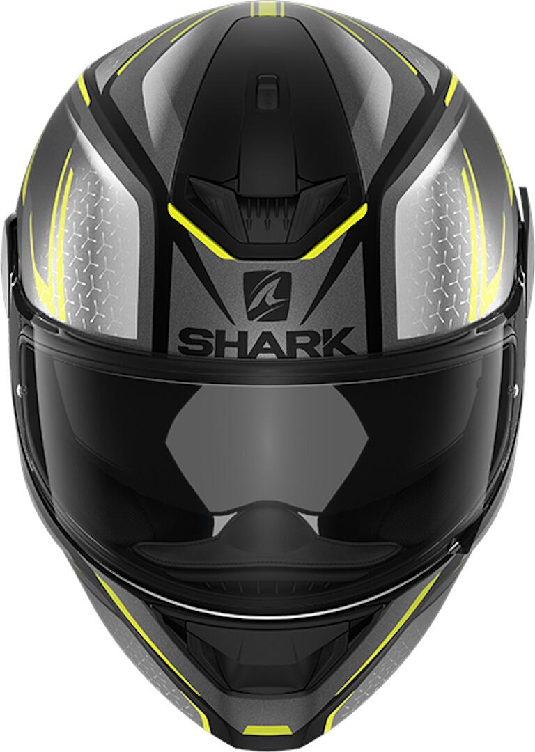 Casco integrale Shark D-SKWAL 2 DAVEN MAT Grigio Giallo fluo 3