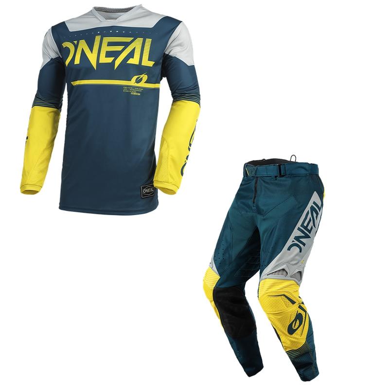 Completo cross O'Neal HARDWEAR SURGE 2021 blue gray maglia+pantaloni 1