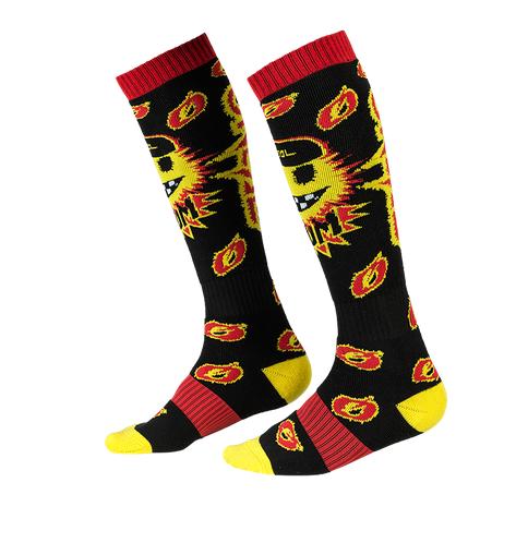 Calze O'Neal Pro MX Sock BOOM Black Yellow (One Size) 1