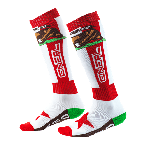 Calze O'Neal Pro MX Sock CALIFORNIA Red White Brown (One Size) 1