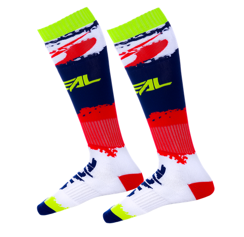 Calze O'Neal Pro MX Sock REVIT Red Blue (One Size) 1
