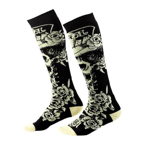 Calze O'Neal Pro MX Sock TOPHAT Black Beige (One Size) 1