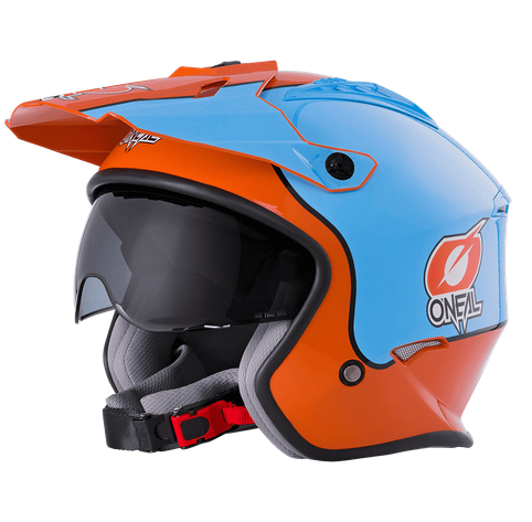 Casco Jet O'Neal VOLT GULF orange/blue 1