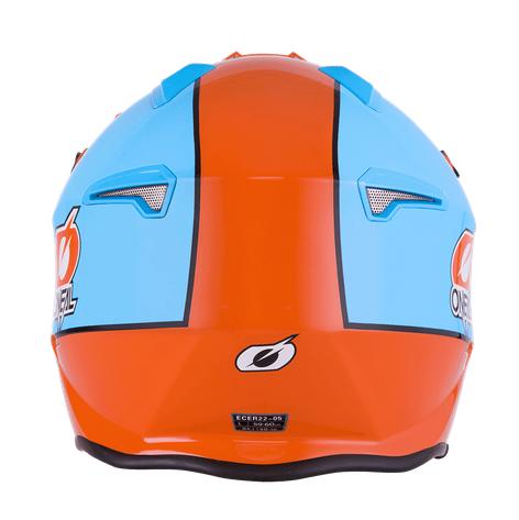 Casco Jet O'Neal VOLT GULF orange/blue 2