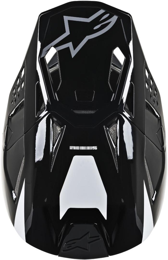 Casco cross Alpinestars Supertech S-M8 RADIUM White Black mid Gray Glossy 4