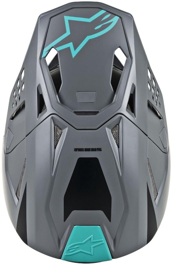 Casco cross Alpinestars Supertech S-M8 RADIUM Black matte mid Gray Teal 4