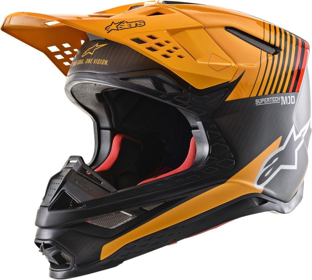Casco cross alpinestars SUPERTECH S-M10 DYNO Black Carbon Orange M&G 1