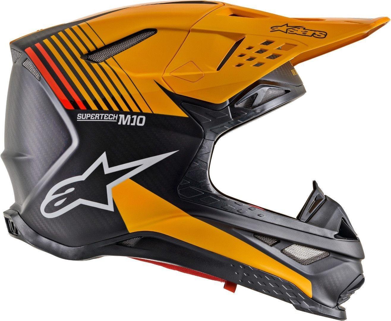 Casco cross alpinestars SUPERTECH S-M10 DYNO Black Carbon Orange M&G 2