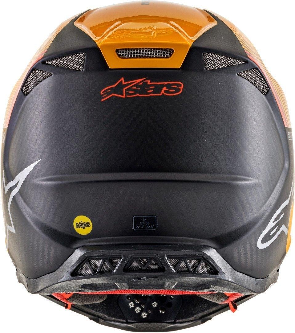 Casco cross alpinestars SUPERTECH S-M10 DYNO Black Carbon Orange M&G 3