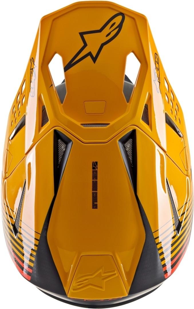 Casco cross alpinestars SUPERTECH S-M10 DYNO Black Carbon Orange M&G 4